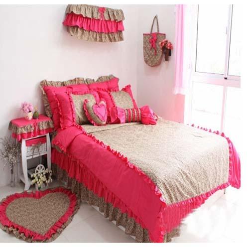 看床品四件套图片 轻松打造欧式田园风格卧室 (2)