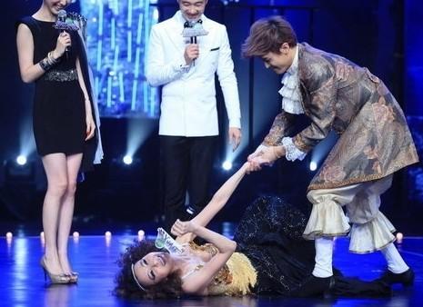 导读:曾经的台湾第一美女萧蔷舞林大会漏乳晕