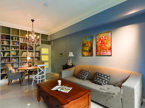 60平小户型欧式客厅装修效果图欣赏
