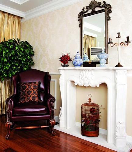 家庭欧式挂壁炉设计效果图
