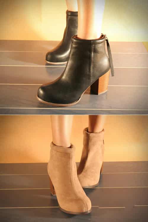 棕色靴搭配图片