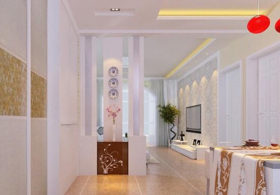 玄关装饰柜效果图 进门玄关柜效果图 新中式玄关柜效果图高清图片