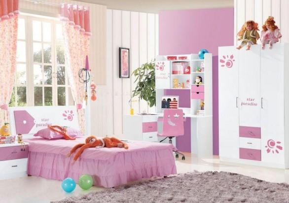 儿童房贴壁纸好吗 儿童房家具摆放装修设计图欣赏