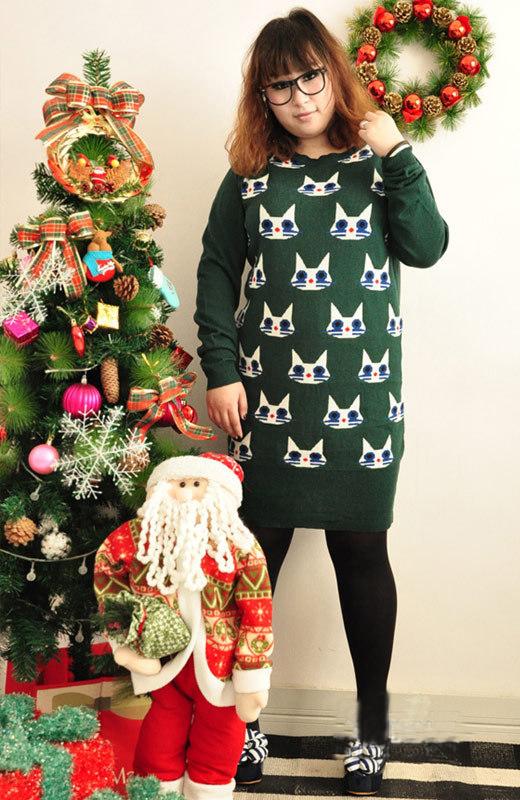 胖女孩冬天穿衣搭配图片 让胖mm在冬季也有好身材