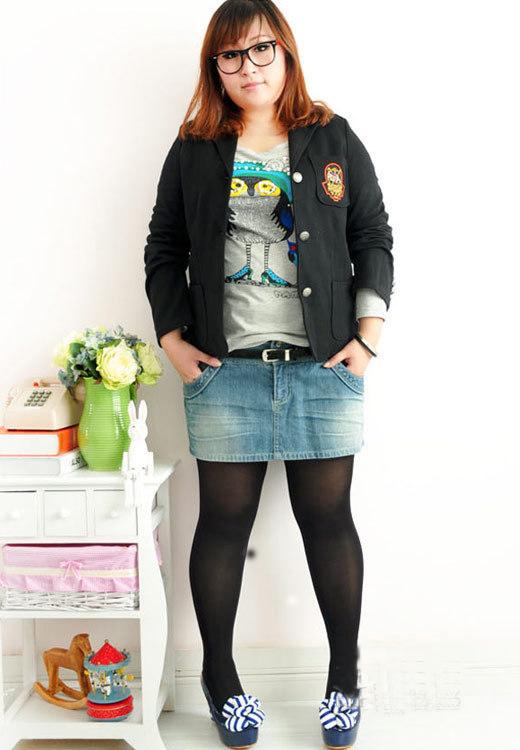 胖女孩冬季穿衣服装搭配图片 帮您隐藏赘肉显