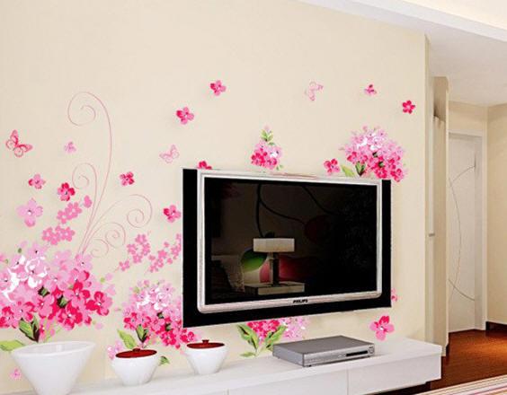 电视墙背景沙发背景墙贴 6款墙壁贴图打造靓丽风情 (6