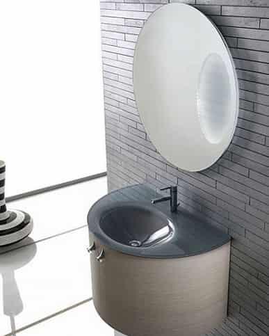 清水/小户型卫浴装修图片 现代简约风格卫浴柜设计鉴赏