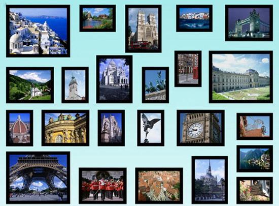 6款个性相片墙设计 打造现代欧式风格装修效果图家居