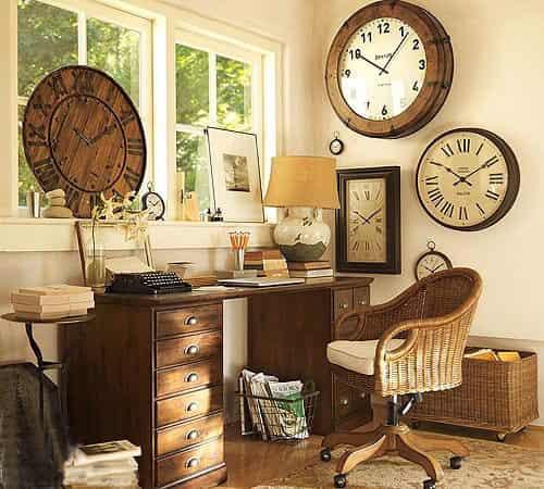 美式怀旧实木家具品牌 打造惬意温馨小书房装修效果图图片