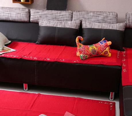 纯手工制作沙发套 打造美观时尚客厅布艺沙发效果图