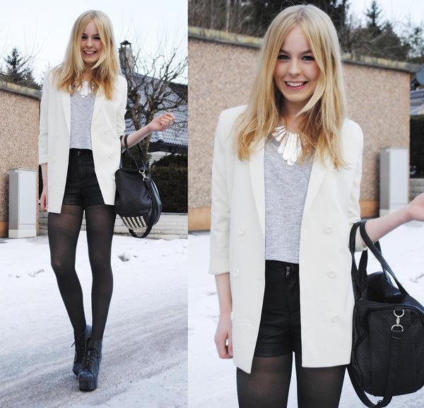 短款春季小外套搭配 向欧美街头女生学习怎么
