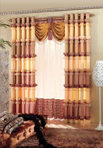 豪华欧式田园风格客厅窗帘效果图