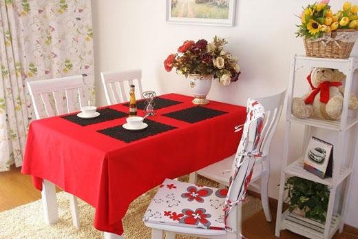 欧式餐桌布贴图搭配 打造春天迷人韩式榻榻米客厅
