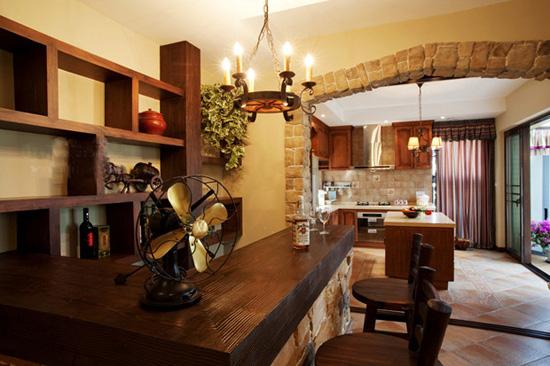美式家居装修样板房效果图 体验异国小清新风情 现代风格客厅装修