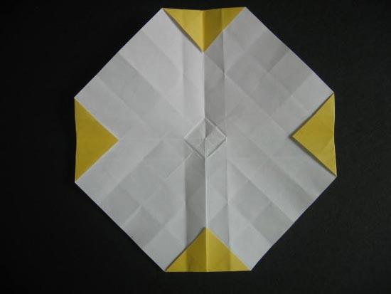 纸玫瑰花的简单折法图解
