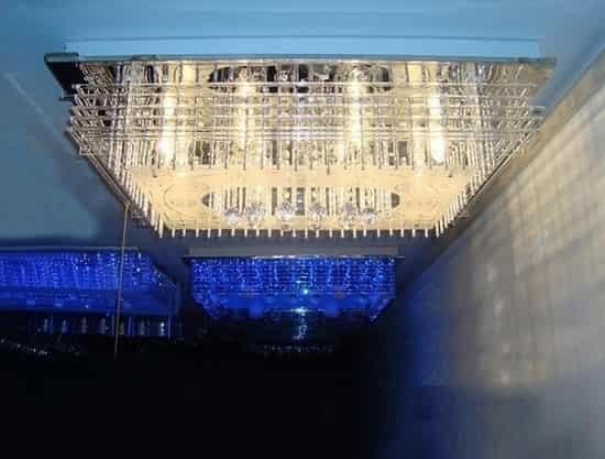 欧式客厅现代风吸顶水晶吊灯