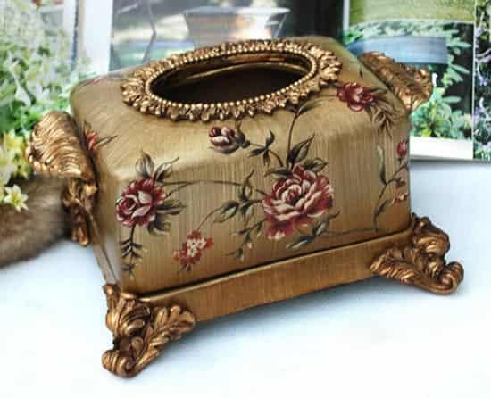 欧式宫廷复古纸巾盒 尽显雍容华贵质感 (3)图片