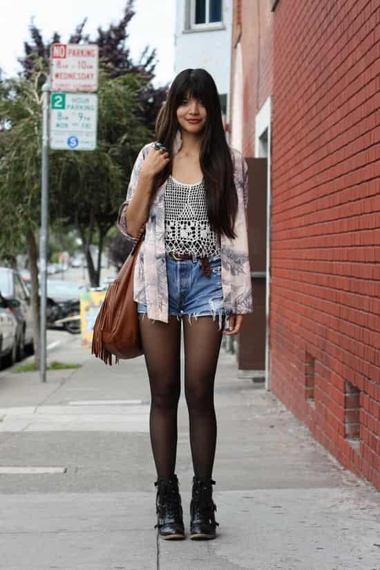 美国6月夏日街拍 欧美街头美女时尚穿搭 七丽