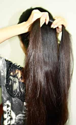 欧美 马尾辫/欧美直发马尾辫编发的扎法