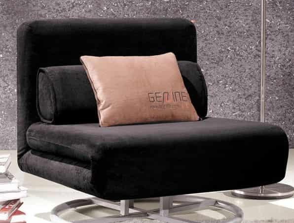 小编点评:多功能360度旋转折叠沙发床,布艺单人沙发床,全五金结构+高