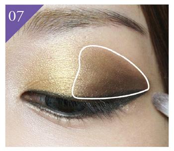 眼部化妆技巧图解