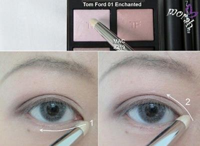 内双大眼妆眼线眼影画法