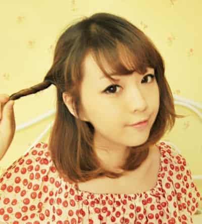 2015年最新盘发发型图片,韩式盘发发型扎法_西子网-中长发韩式盘发图片