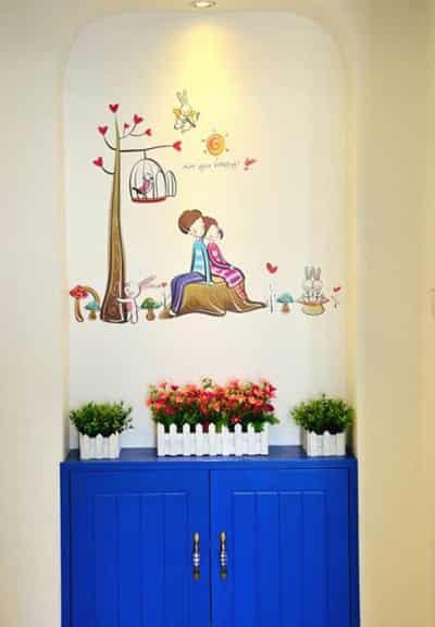 家居装饰墙面效果图 墙贴画打造视觉盛宴