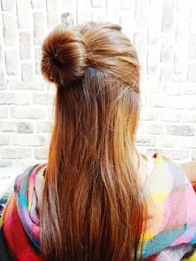 韩式蓬松丸子头扎法步骤 学扎俏皮时尚发型