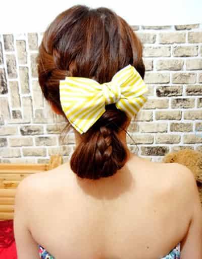 韩式简单编发发型图片 温婉萝莉气质编发