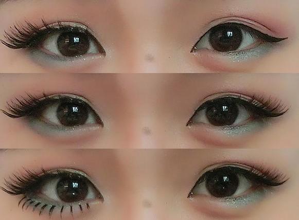 甜心芭比娃娃妆容 引领2012冬季流行妆容走向 Step1:假睫毛是大眼不可能缺少的利器,这次选的是日系可爱一些的假睫毛,涂上胶水等待上几秒在沾,才可以发挥胶水最佳的粘性。