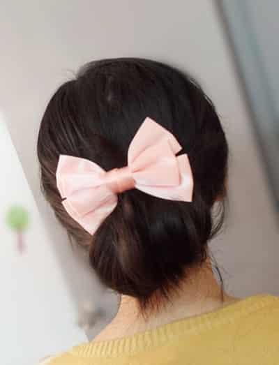 低发髻韩式优雅发型扎法步骤 轻松造就人气轻熟女造型