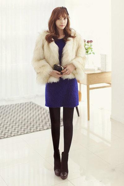 今冬流行服饰 皮草外套华丽时髦搭