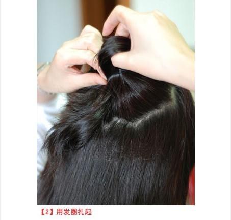 简单步骤diy韩式花苞头包发 打造最美春日出游发型 (3