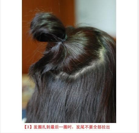 简单步骤diy韩式花苞头包发 打造最美春日出游发型 (4