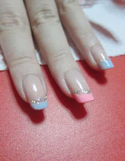 简单指甲花纹样式