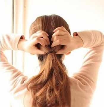 夏日长发编发盘发步骤图解 简单易学打造韩式甜美发型图片