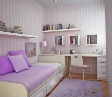 时尚的精装小户型单身公寓装修效果图