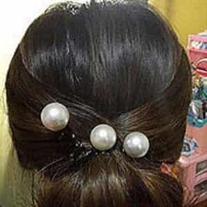 心机花苞头扎法图解 玩转夏日清凉发型 12高清图片