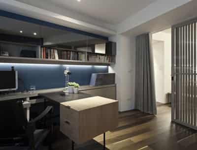 个性书房装修设计图 打造舒适学习空间 (5) - 七丽