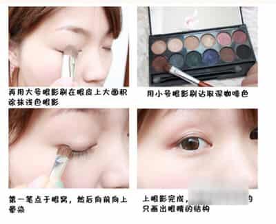 圆脸美眉适合的清新可爱妆容 (3)
