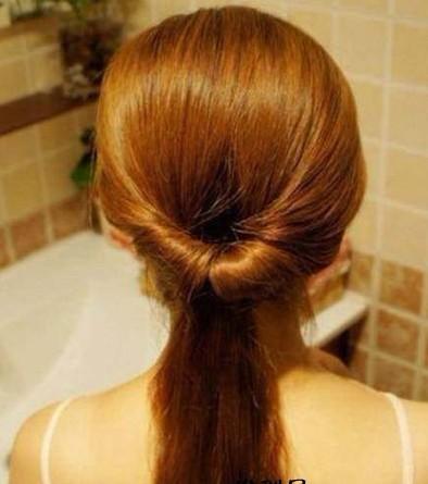 2款韩系中长发发型扎法图解