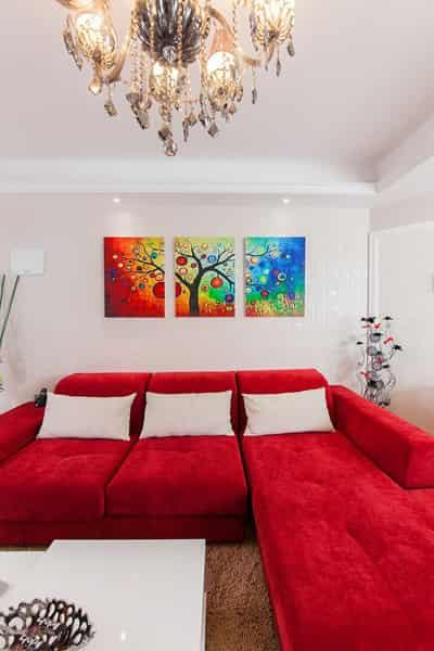 室内家居装修效果图 打造红白色调喜庆婚房(图)