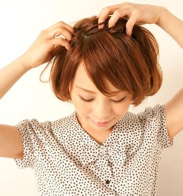 2012年流行短发发型 短发编发发型俏皮小女生