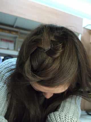 详细教程图解_半丸子头教程 - 爱-半扎头发好看的步骤图