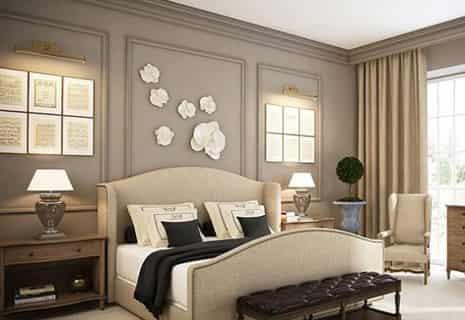 卧室床头背景墙效果图 现代简约床头背景墙显大气高清图片
