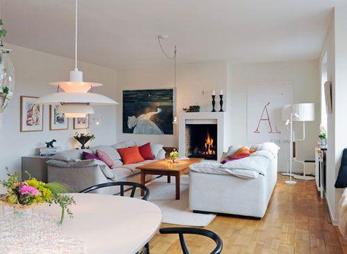 北欧风格客厅装修效果图 挪威幻想主义设计风格 (5)