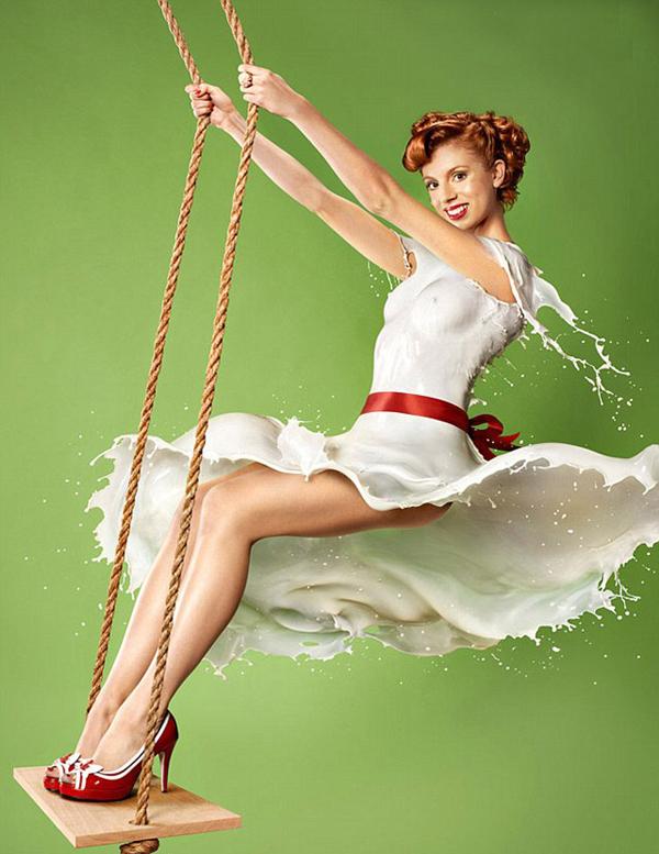 时尚流体牛奶礼服 高速摄影大师Jaroslav Wieczorkiewicz镜头下的复古魅力女郎