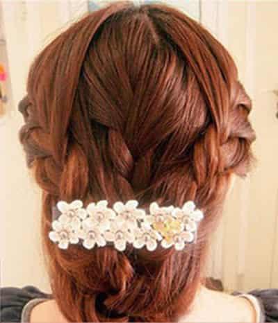 韩式新娘造型编发教程图解 打破沉闷老气旧式盘发