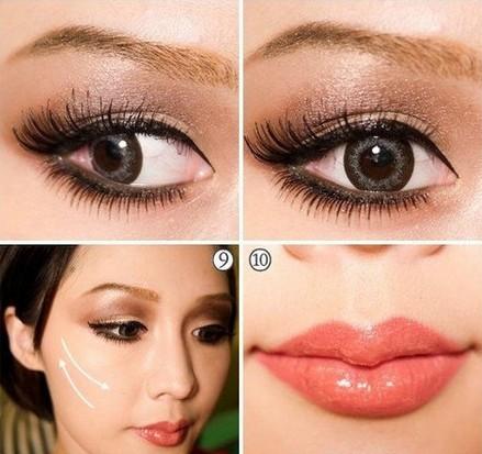 混血大眼妆的简单画法